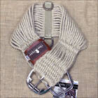 CLASSIC EQUINE HORSE ROPER NATURAL MOHAIR CINCH GIRTH WITH NYLON CENTER