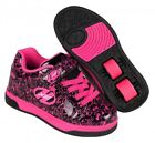 Heelys Dual Up Shoes 2016 -Black/Hot Pink/Graphic Roller Shoes+Free How to DVD