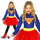 Girls Childs Kids Super Hero Comic Book Heroine Tutu Fancy Dress Costume Outfit