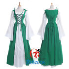Women Renaissance Medieval Irish Costume Fitted Bodice Overdress Classic Chemise