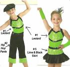 Dance Costume Limelight 3pc Set Leotard and Capri Pants and Skirt Child X-Small