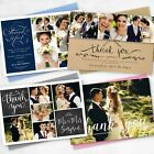 Premium Personalised Wedding Thank You Cards with Photo with FREE Envelopes