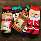 CHRISTMAS Womens Princess Cute Cartoon Girls Cotton Ankle Socks Low Cut Socks