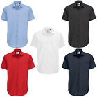 New B&C Mens Smart Work Short Sleeve Polycotton Shirt in 5 Colours S - 4XL