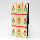 Tulips Print Design Pattern Flip Case Cover For Sony Xperia - P650