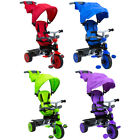 Trikestar Deluxe 4 In 1 Pedal Trike Canopy Purple, Red, Green and Blue Available