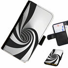 AZT01 SWIRLS PRINTED LEATHER WALLET/FLIP PHONE CASE COVER FOR ALL MODELS