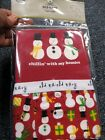 Old Navy red 2pc pajamas set  boy 3-6 m NEW snowman