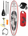 "TBF Model II 10'10"" Inflatable SUP Stand Up Paddle Board Ultimate Pack (Rojo)"