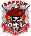 STICKER US ARMY SAPPER SKULL Logo