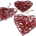 10cm RED RATTAN WIRE HEARTS - VALENTINE CHRISTMAS TREE CRAFT WREATH FLORIST