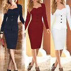 Fashion Women Career Bodycon Slim Party Formal Evening Office Lady Pencil Dress