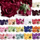 5pcs Big Rose Artificial Flower Heads Craft Wedding Party Decor 10cm