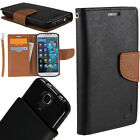 Flip Wallet Case For Samsung Phone PU Leather Pouch Cover BLACK / BROWN +TPU $11.95 USD on eBay