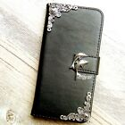 Dolphin phone wallet Leather flip case Handmade Stand cover For Samsung Note 5 7