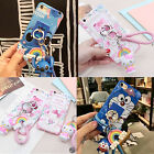 Cute Stitch Mike cat Pendant Keychain+Ring Stand Case Cover for iPhone 7 6s plus