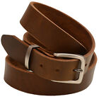 Orion Leather 1 3/8 Olive Re-Tanned Leather Belt Natural Edge Buckle Set
