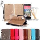 For Sony Xperia M2 S50H 3D Crystal PU Leather Case Cover Flip Tempered Film