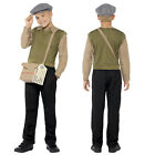 Smiffy's Boys Evacuee Costume World Book Day WW2 Wartime Fancy Dress Outfit