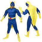 Smiffy's Adult Bananaman Padded Muscle Costume Fancy Dress Outfit
