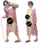 Smiffy's Adult Gravity Granny Novelty Costume Old Lady Fancy Dress Outfit