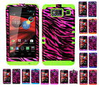 KoolKase Hybrid Cover Case for Motorola Droid Razr Maxx HD XT926m - ZEBRA PINK