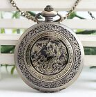 antique Steampunk dragon Pocket Watch Necklace Classic pocket watch