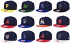 New Era MLB Authentic 9FIFTY Mens Snapback 2 Tone Denim Suede Baseball Hat Cap on Ebay