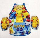 New  Boys Girls Kids Art Paint/ Smock Apron Sleeves set size 2-5Yrs pokemon