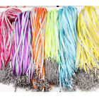 5/20Pcs Organza Ribbon Cord Chain Lobster Clasp DIY Necklace Jewelry Finding