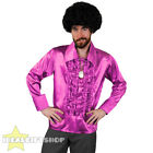 MENS 1970S DISCO RUFFLE SHIRTS ADULTS FANCY DRESS COSTUME 70S FRILLY TOP 1960S