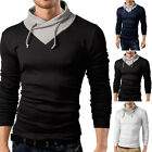New Fashion Men's Slim Fit V-neck Cotton Casual T-shirt Long Sleeve Muscle Shirt