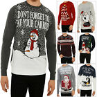 Threadbare Novelty Christmas Santa Penguin Designer Knitwear Round Neck Jumpers