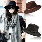 New Women Men Unisex Vintage Blower Jazz Hat Trilby Derby Cap Fedora Style Hats