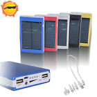 30000mAh Portable Dual USB Solar Panel Battery Charger Power Bank for Smartphone