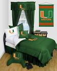 Miami Hurricanes Comforter Sham & Pillowcase Set Twin Full Queen Size LR