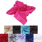 Kyпить Elegant Large Silk Feel Solid Color Satin Square Scarf Wrap 36