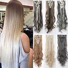 100 real natural clip in hair extensions 8 pieces full head long as human hair