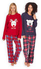 Ladies Winter Fleece Pyjama Set New Womens Christmas Long Sleeved PJS UK 8-22