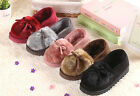 S001 Faux Suede Women Winter Cotton Boots Warm Plush Snow Shoes Indoor Outdoor