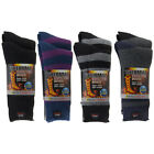 2 Pairs of Heat Trapping Thermal Brushed Warm Boot Socks Insulated Winter
