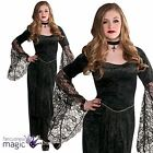 Girls Gothic Temptress Teen Goth Vampire Vampiress Halloween Fancy Dress Costume
