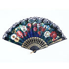 Spanish Lace Fabric Folding Hand Held Dance Fans Flower Party Wedding Prom MO