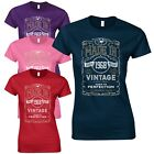 Made in 1968 Ladies Fitted T-Shirt - Born 50th Year Birthday Present Funny Gift
