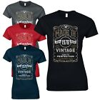 Made in 1977 Ladies Fitted T-Shirt - Born 40th Year Birthday Present Funny Gift