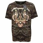 5470Q maglia uomo MARCELO BURLON verde/marrone t-shirt short sleeve men