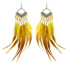 JF158 wholesale lots downy Feather chandelier earrings beads you pick quantity