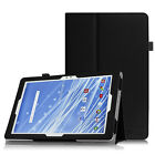 For Insignia Flex 10.1 NS-P10A6100 Tablet Vegan Leather Folio Case Stand Cover