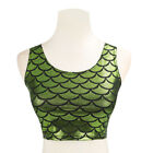 WOMENS Gym Fish Scale Mermaid Blouses SPORTS Yoga Fitness VEST TOP T-shirt