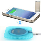 Qi Wireless Charger for iPhone 5 5S 5SE Receiver Case Charging Pad with LED